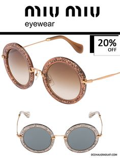 """Occhiali Miu Miu - OcchialiGraduati.com  Sconto del 20% """"SPEDIZIONE GRATUITA""""  #miumiu #shopping #style #love #fashion #glassesonline"""