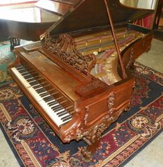 Here Is The King Of The Victorian Concert State - This Model Chickering Was Preferred By Famous Pianists Of The Era Such As Liszt, Gottschalk, And Others.  http://antiquepianoshop.com/product/450/-chickering-victorian-concert-grand-piano/