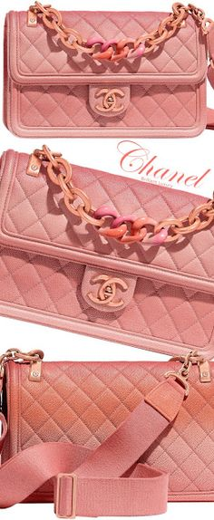 d1f7160c5357d Brilliant Luxury♢Chanel quilted ombre coral bag Just Be Happy