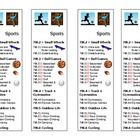 When teaching the Dewey Decimal System, these bookmarks help students understand how the sports section is organized by small wheels, ball games, t. Library Plan, Library Skills, Library Ideas, Dewey Decimal System, School Librarian, Media Specialist, Media Center, Teacher Newsletter, Teacher Pay Teachers