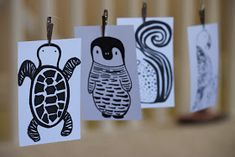 When deciding how to decorate the nursery I really wanted to include L. One of the first things we made were these little black and white ...