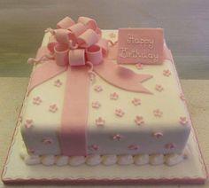 Teenager Cakes - Rathbones Bakery Upholland Source by Square Birthday Cake, 90th Birthday Cakes, Birthday Presents, Elegant Birthday Cakes, Gift Box Cakes, Present Cake, Mom Cake, Birthday Cake Decorating, Decorating Cakes