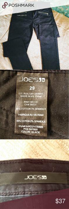 Joe's Jeans womens black size 29 Joes jeans the Rocker fit zippeted front pockets Joe's Jeans Jeans Skinny