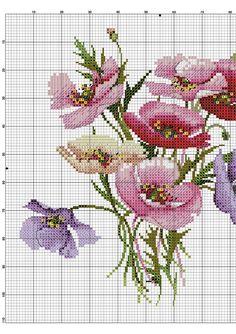 Kanaviçe Çiçekli Yastık Örnekleri (2)