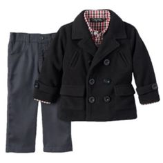 at kohls online perfect for little boys!  Only Kids Apparel Baby Boy Peacoat & Pants Set