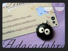 Squeeee! Polymer clay Susuwatari (soot sprite) from Totoro