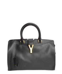 Saint Laurent black calfskin leather medium doctor bag | BLUEFLY up to 70% off designer brands
