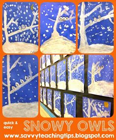 sandra's savvy teaching tips: Quick and Easy Snowy Winter Owls