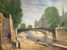 The Seine, 1924, Ludolfs Liberts #ludolfsliberts Painting from exhibition at Mukusalas Makslas salons in Riga, Latvia