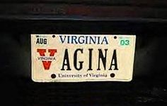 Would you drive around with any of these on your car??? ~~ 36 Dirty, Funny License Plates