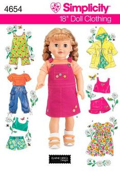 18 inch Doll Clothes Sewing Pattern 4654 Simplicity everyday wear