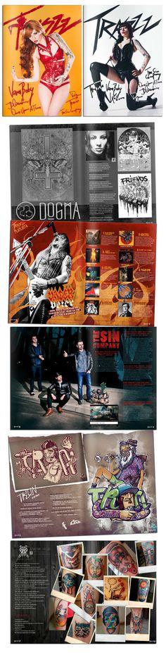 Traszz Magazine by Łukasz Pach, via Behance