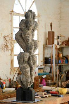 -Axel Cassel- 'Atelier et volute' (bronze) 2012