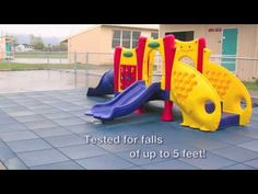 "Rubber-Cal's Eco-Safety 2.5"" Interlocking Rubber Tiles for Outdoor Playground Surfacing - YouTube"