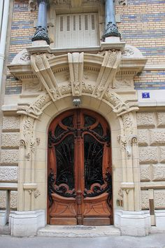 Organic Forms and Whiplash Curves - Doors of Paris
