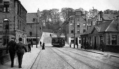 Old photograph of East Bridge Street, Perth, Perthshire, Scotland