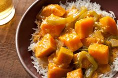 Thai Red Curry with Kabocha Squash ~ I guess we're just plain hooked on curry dishes. This is new squash for me, but it arrived in our veggie box delivery last week, so here goes. Update: Absolutely love it! And it's very easy.