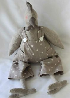 picorette_ Soft Sculpture, Chiffon, Creations, Crochet, Teddy Bear, Roosters, Sewing, Crafts, Inspiration