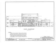 HABS (sheet 7 of - Woodlawn Plantation, State Highway Napoleonville, Assumption Parish, LA Plantation Homes, Historical Architecture, Architecture Details, Louisiana Plantations, Abandoned Plantations, Drafting Drawing, Greek Revival Home, Southern Mansions