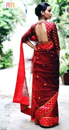 11 Svelte Blouse Designs For Silk Sarees. One For Every Saree And Occasion!