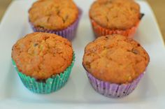Whole Wheat Muffins with Oats and Dark Chocolate Chips