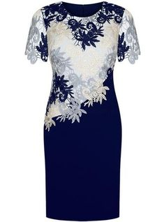 Mother Of The Bride Dress, Sheath Round Neck Short Sleeves Royal Blue Mother of the Bride Dress with Lace Dressy Dresses, Simple Dresses, Beautiful Dresses, Short Dresses, Bride Dresses, Plus Size Evening Gown, Formal Evening Dresses, Evening Gowns, Cheap Homecoming Dresses