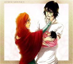 Орихиме, Улькиорра и их маленький ребёнок ^-^