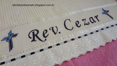 Toalha de Banho Bath Linens, Cross Stitch Embroidery, Craft