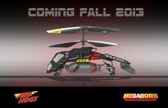 Air Hogs Megabomb - the first bomb dropping R/C Helicopter.  Coming this fall...