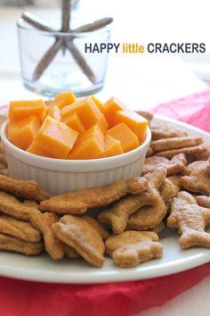 Homemade Cheddar Cheese Goldfish Crackers on FamilyFreshCooking.com