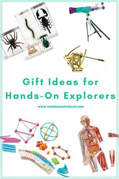 Gift Ideas For Kids - Hands - On Exploration | Montessori Nature Blog | Open-ended activities | Discoveries | Science Activities | Gift Guide