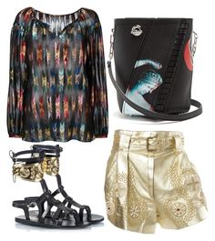 """""""Untitled #301"""" by amory-eyre ❤ liked on Polyvore featuring Yves Saint Laurent, Jitrois, Ancient Greek Sandals and Proenza Schouler"""