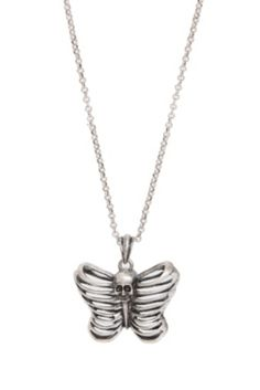LOVEsick Rib Cage Butterfly Necklace