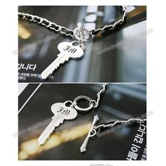 Cheap Stylish and Popular Hide Rope and Key Pattern Design Necklace For Female | Everbuying.com