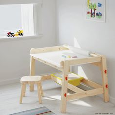 FLISAT Children's table, 32 At IKEA, we love to develop products that can be used together in a smart way. That's why TROFAST storage boxes fit under the top of the table. Furniture Logo, Kids Furniture, Bedroom Furniture, Furniture Design, Furniture Stores, Furniture Cleaning, Furniture Online, Cheap Furniture, Luxury Furniture