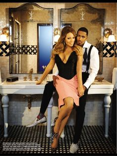 Mariah Carey & Nick Cannon Sex Up The Pages of 'EBONY'