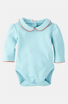 Love this!   Mini Boden 'Pretty' Collar Bodysuit (Infant) available at #Nordstrom