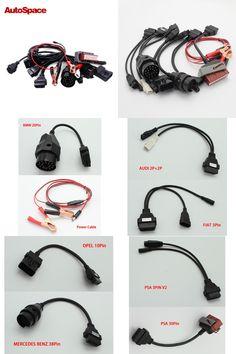 [Visit to Buy] Full OBD OBD2 Car Diagnostic Tool Cable for PEUGEOT CITROEN AUDI BENZ BMW OPEL FIAT PSA Auto EOBD OBDII Scanner Connector DS150 #Advertisement