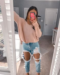 Trendy Fall Outfits, Casual School Outfits, Teenage Outfits, Cute Comfy Outfits, Basic Outfits, Teen Fashion Outfits, Pretty Outfits, Stylish Outfits, Trendy Outfits For Teens