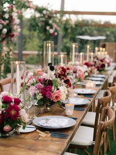 Red Done Oh-So-Right in this Rancho Valencia Resort & Spa Wedding – Red + Burgundy Wedding Ideas - Wedding Table Red Wedding, Wedding Ceremony, Wedding Flowers, Reception, Pink And Burgundy Wedding, Burgundy Flowers, Red Burgundy, Nautical Wedding, Wedding Bouquet