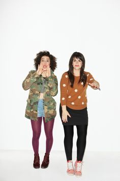 I like Abbi's (on the right) style on the show and in real life