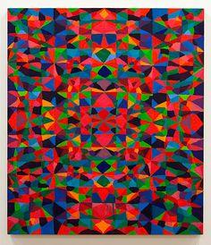 TODD CHILTON: Untitled (diamonds red green blue), 2008