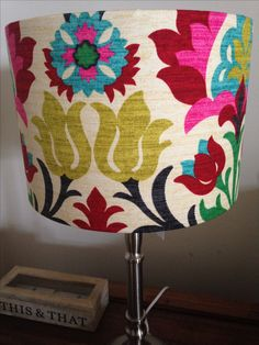 Lampshade Cover In Santa Maria Fabric By Waverly