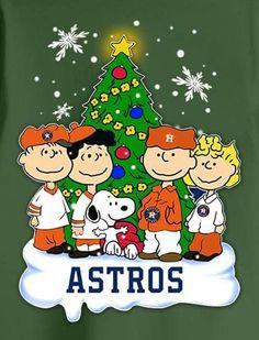 Houston Astros Snoopy Peanuts  Christmas