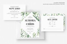 PRINTED Wedding Invitations, RSVP, Save the Date, Boho Wedding Invitation, Plant Wedding Invitation, Wedding Invitation Suite, Green Wedding