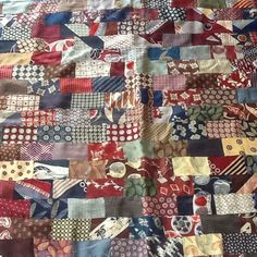 small quilt made from vintage neckties