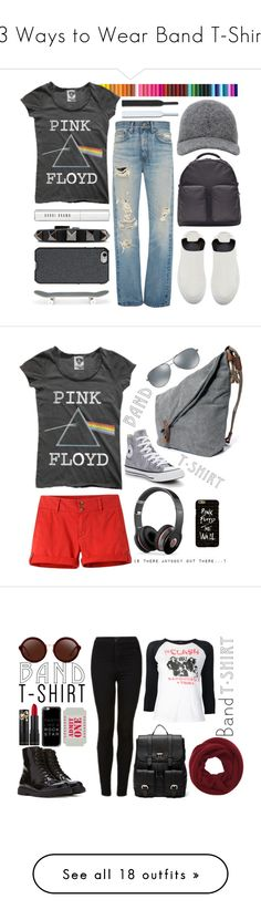 """""""13 Ways to Wear Band T-Shirts"""" by polyvore-editorial ❤ liked on Polyvore featuring bandtshirt, bandtee, waystowear, Floyd, TIBI, Brock Collection, adidas Originals, Valentino, Bobbi Brown Cosmetics and Agent 18"""