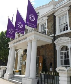 Angled Flags produced by House of Flags for Dockmasters House