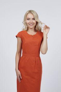 Dm00204br хлопковое платье в горошек
