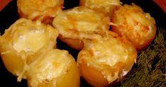 Картофель с перепелиными яйцами в духовке